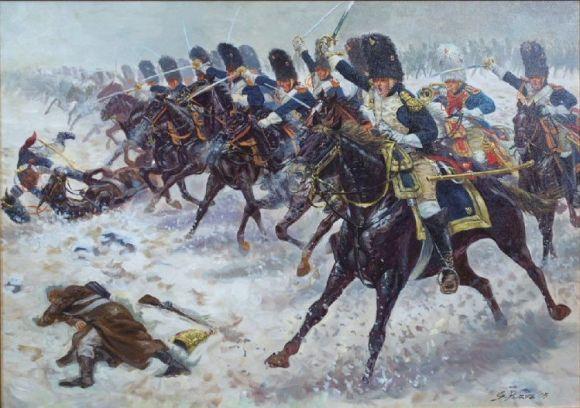 Carga de caballería en Eylau
