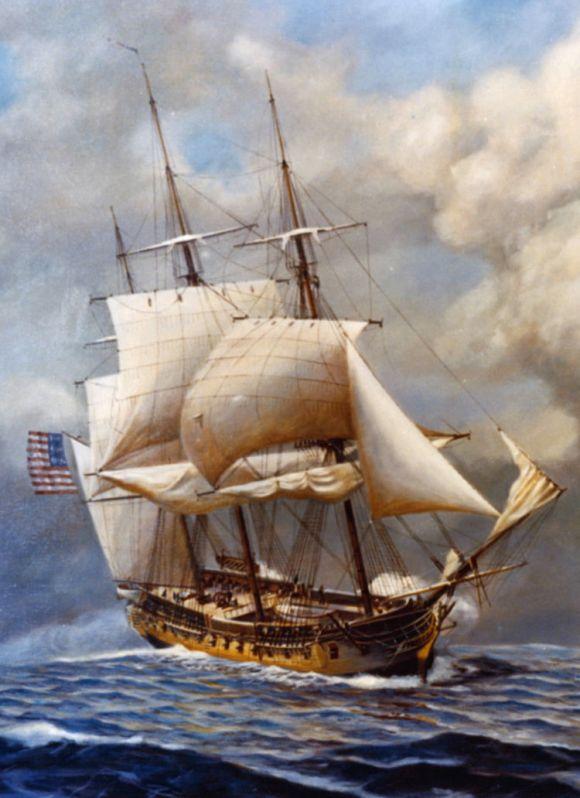 USS Constellation, una de las seis fragatas del plan de construcción de EEUU