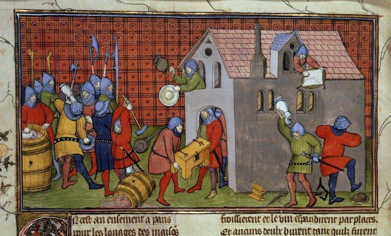 Mercenarios saqueando una ciudad italiana
