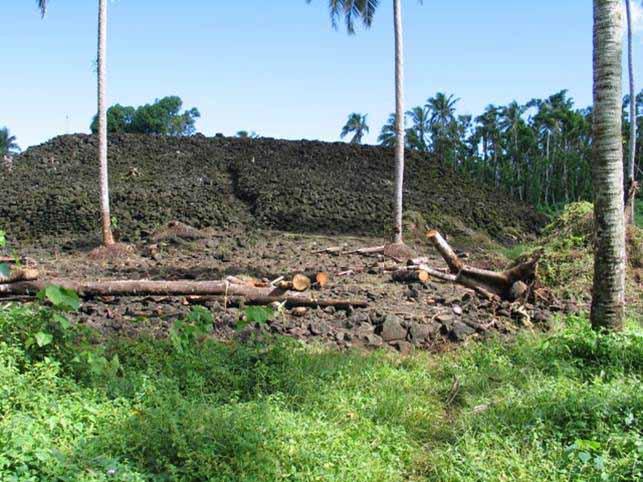 El túmulo piramidal de Pulemelei, la estructura más grande y antigua de Polinesia