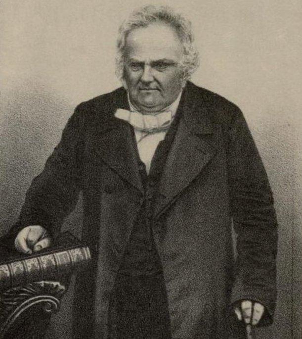 Retrato de un Joseph Wolff ya mayor