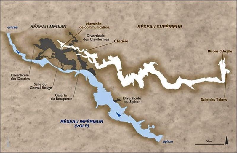 Mapa de Tuc d'Audoubert, foto CREAP.fr