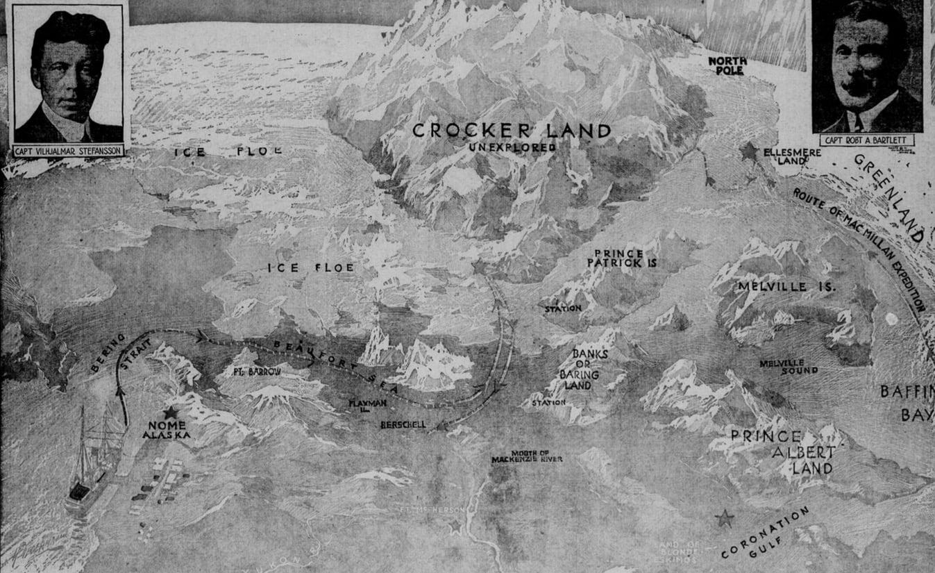 Tierra de Crocker, la isla fantasma que Robert Peary divisó en el Ártico