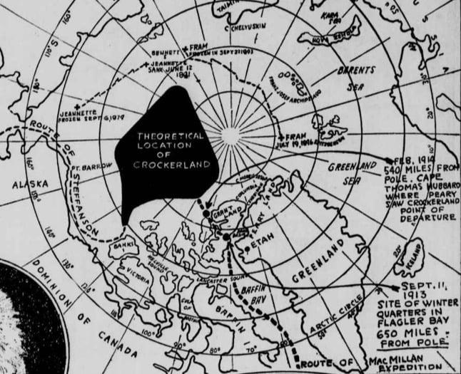 Ruta de la Expedición MacMillan / foto Library of Congress