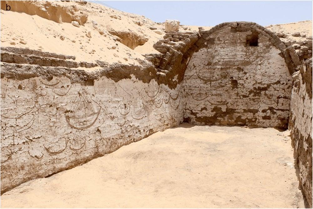 Más de 120 imágenes de barcos, descubiertas en un edificio de hace 3.800 años en Egipto