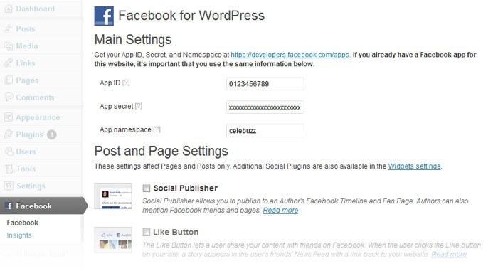Plugin oficial de Facebook para WordPress