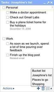 Tasks: la lista de tareas de Gmail