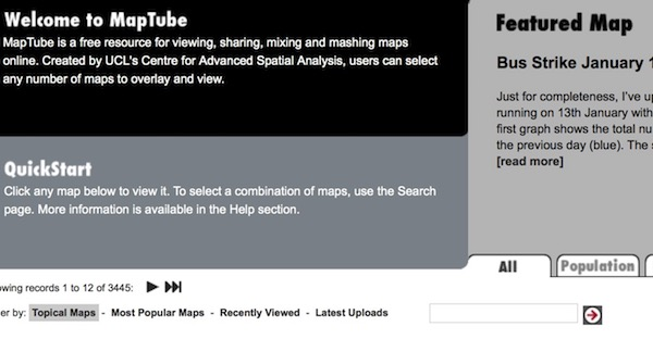 MapTube, mapas a lo YouTube