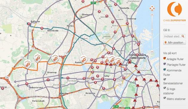 Copenhague inaugura su red de autopistas para bicicletas