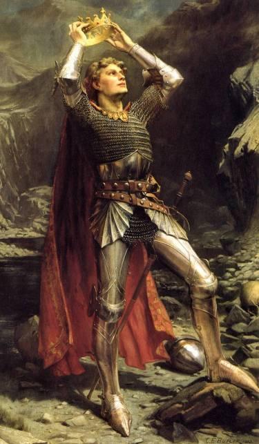 El rey Arturo en una pintura romántica de Charles Ernest Butler/Imagen: dominio público en Wikimedia Commons