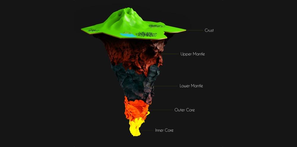 Un estudio detecta montañas a 660 kilómetros de profundidad en la zona de transición del manto terrestre