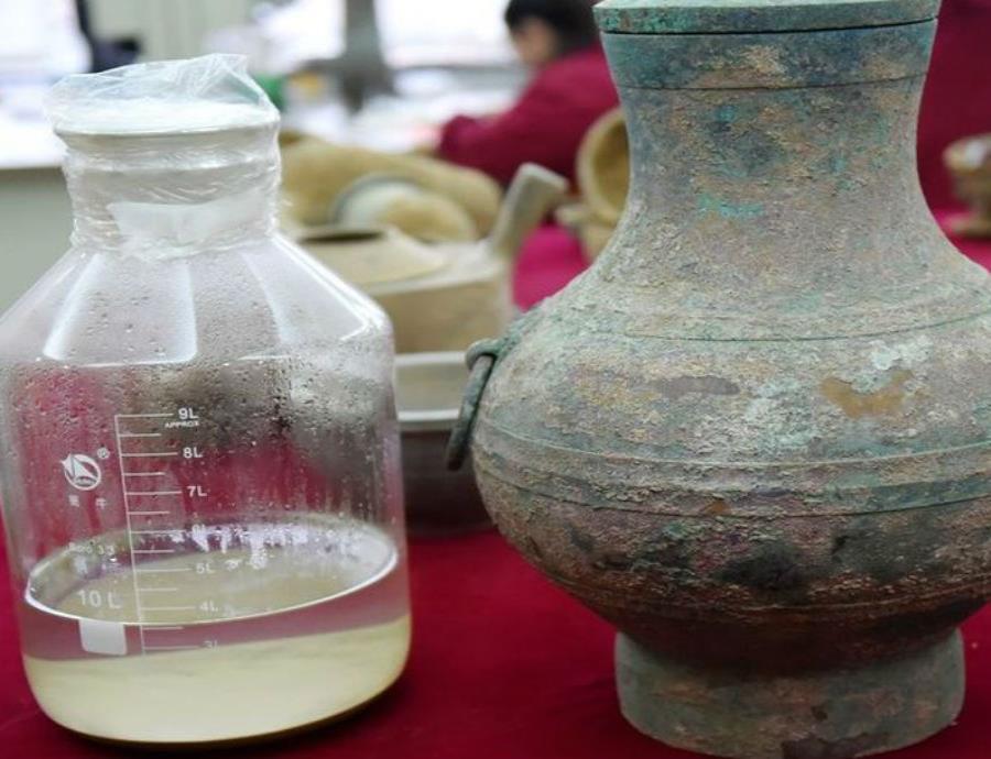 Encuentran 'elixir de la inmortalidad' en una tumba china