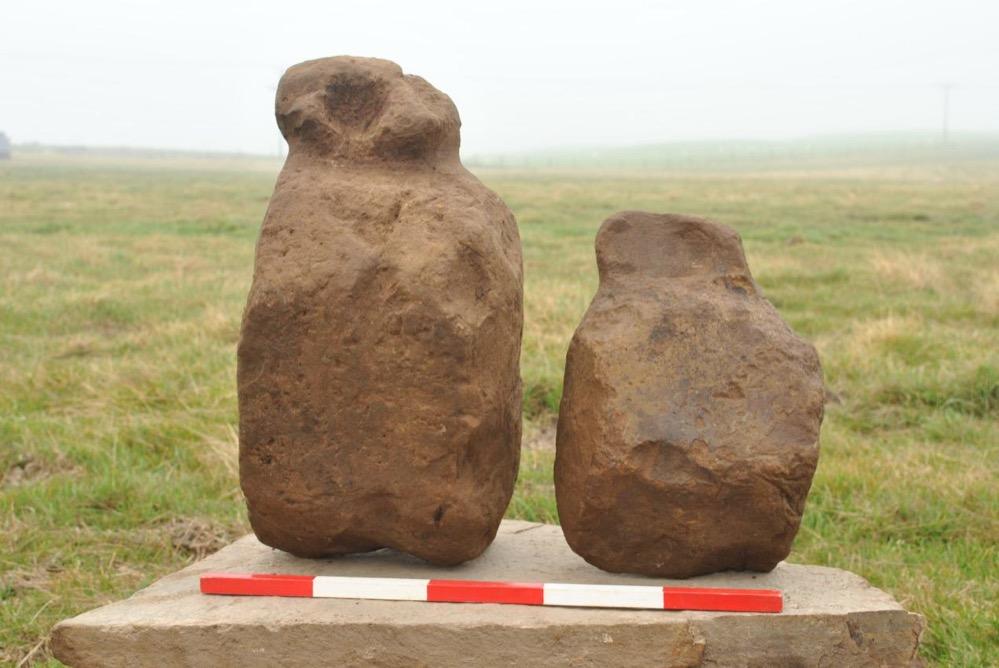 9 pequeñas esculturas de la Edad del Bronce encontradas en las islas Orcadas