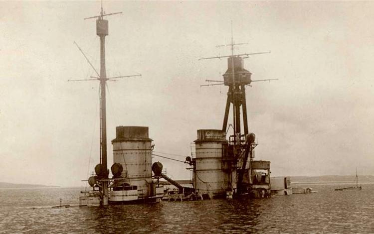 Cómo Alemania hundió toda su flota en Scapa Flow al final de la Primera Guerra Mundial