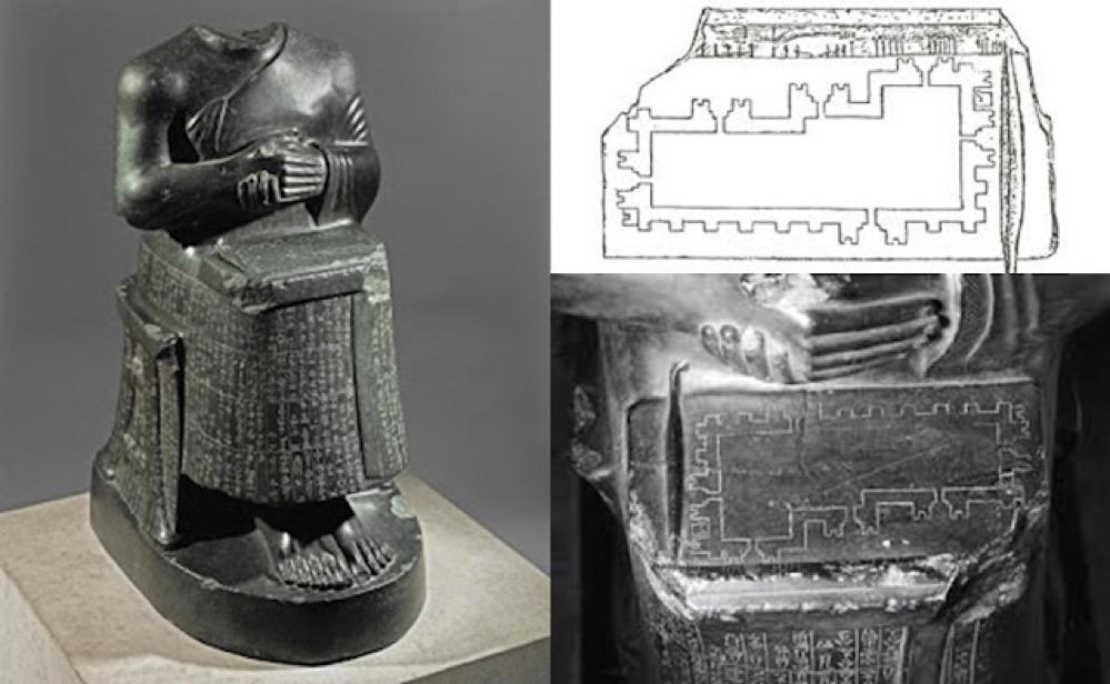 El templo dentro de la estatua dentro del templo que sirvió para reconstruir la metrología acado-sumeria