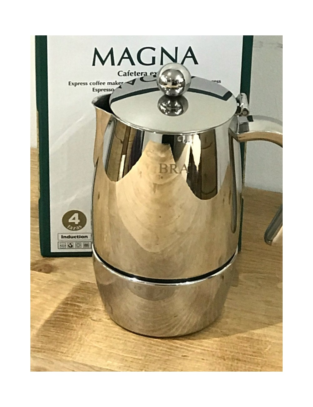 magna cafetiere italienne inox tous feux