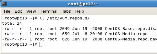 yum repos files on CentOS