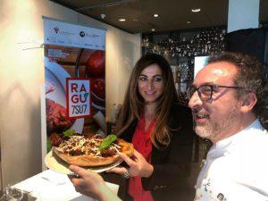 Francesca Marino e lo Chef Lino Scarallo