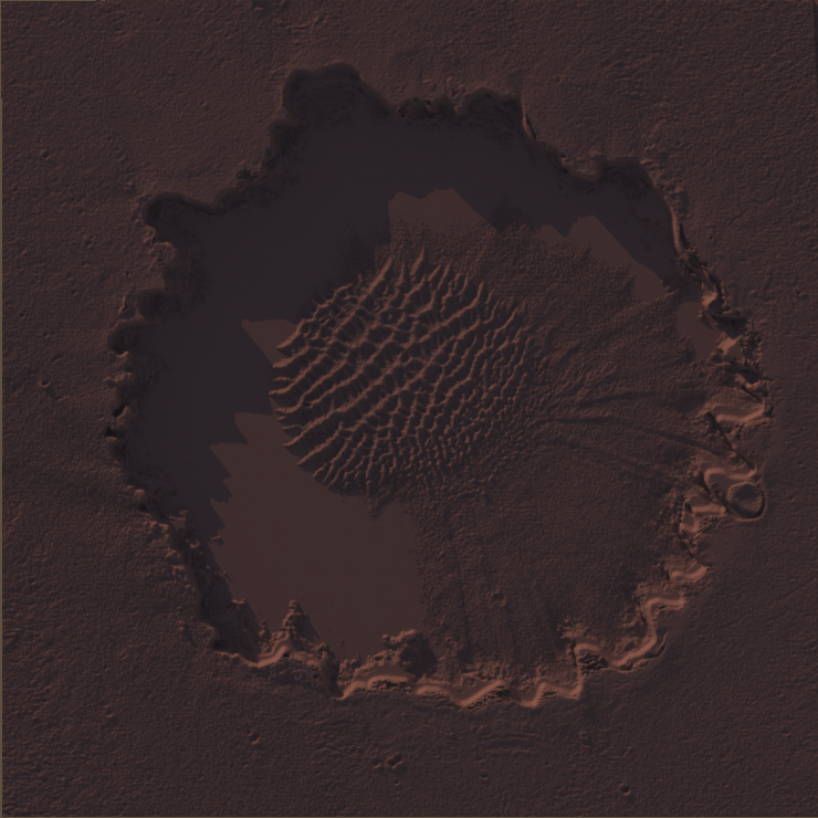 Screenshot: Victoria Crater, Unity terrain from Heightmap