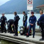 Plongée sur l'épave du France à Annecy
