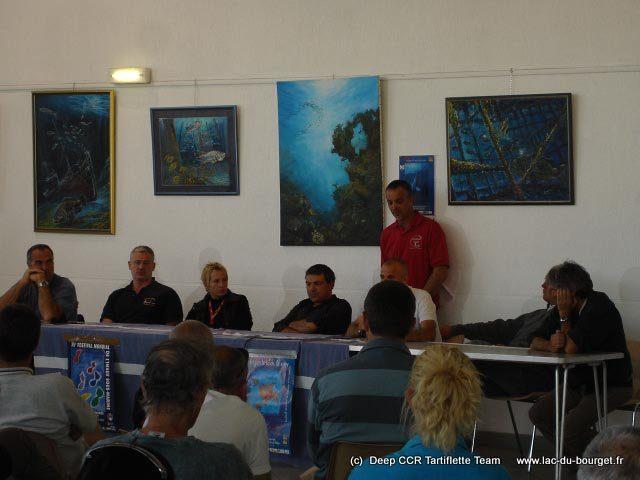 Des conférences au festival de la plongée tech