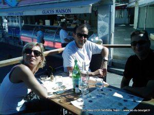 Retour pour le déjeuner après notre plongée au festival tech 2008