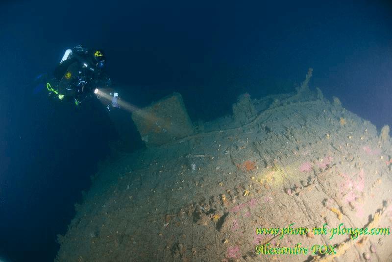 Plongee épave voilier Alain Saint Raphael