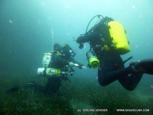 Le Gone se forme moniteur de plongée recycleur inspiration deep ccr tartiflette team avec son élève Gilles
