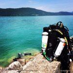 Plongée recycleur lac du Bourget pierre à Bise 22-6-14