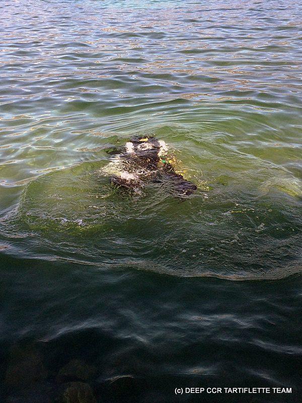 Plongée double recycleur au lac du Bourget