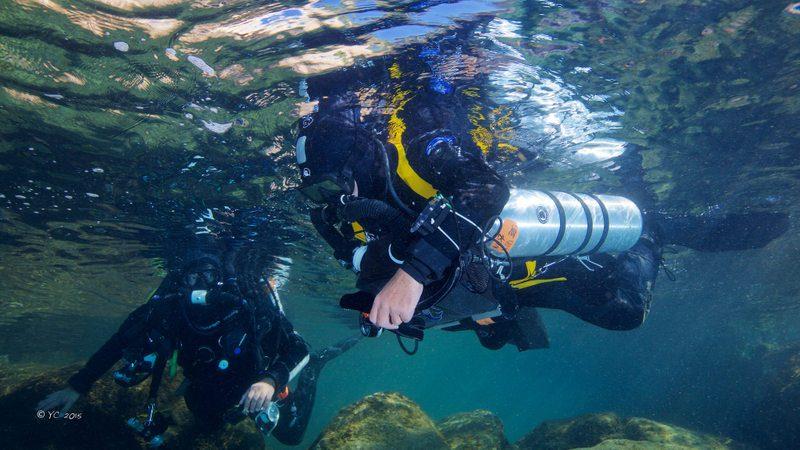 Plongée en Recycleur Triton dans la calanque de Mejean à coté de Marseille