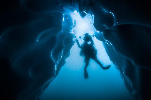 Plongée sous la banquise lors de la Mission Under The Pole II