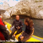 Baptême de plongée à Marseille Choupinette Briefing sur le Bateau