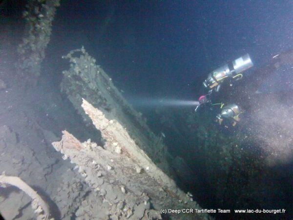Plongée sur épave profonde à l'intérieur du Maréchal Canrobert