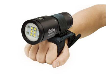 Lampe de plongée Eclairage vidéo Bigblue VL4000P 10eme Anniversaire Glossy Black avec son gant Goodman