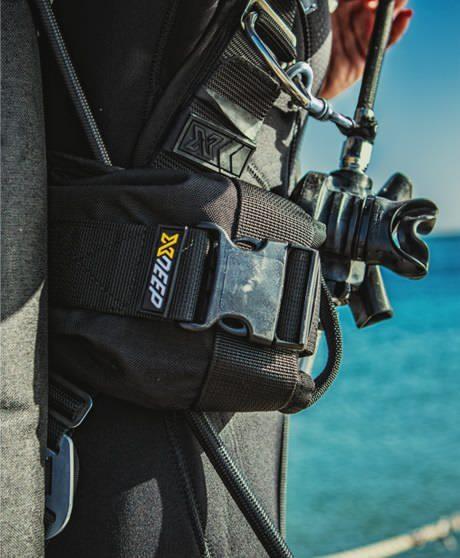 Lestage de plomb pour la plongée sous-marine. Abaisser la poche à plomb pendant la plongée. Xdeep Ghost Deluxe