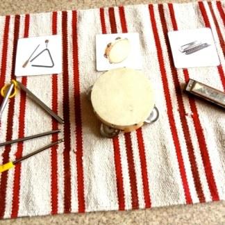 Instruments de musique cartes de nomenclatures Montessori