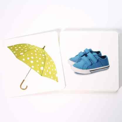 Chaussures et Accessoire - cartes de nomenclature Montessori