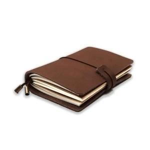 Cuaderno de apuntes de cuero - La Caja de Bruno