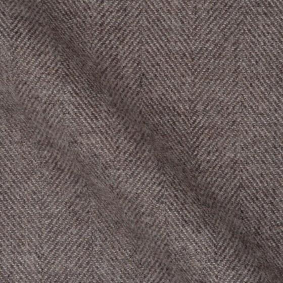 Brauner Flanell Hemden Stoff mit Fischgrat Muster