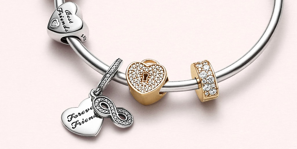 PANDORA Charms 14k Gold and Sterling Silver