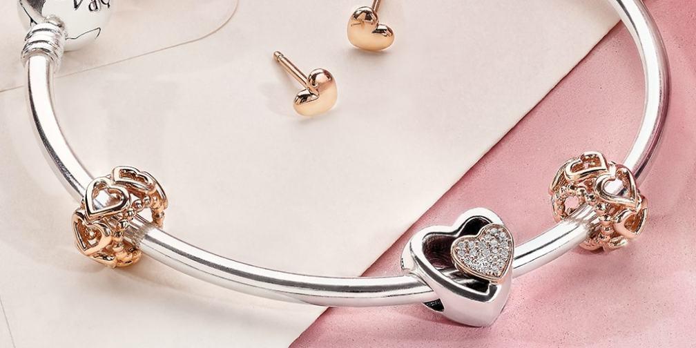 PANDORA Two-Tone Heart Bracelet