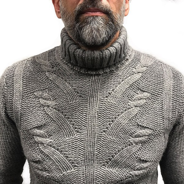 Cuello vuelto gris de Corneliani