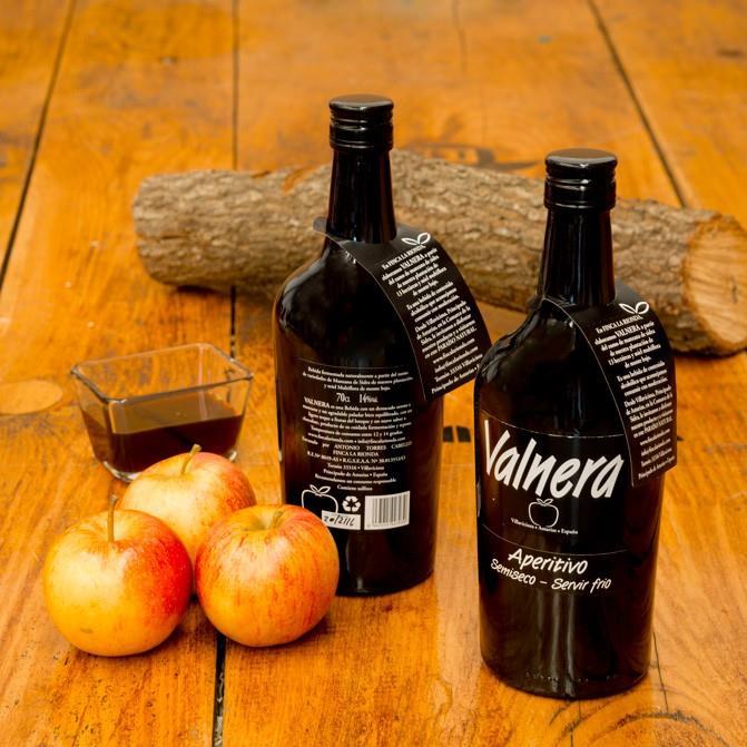 Degustación de aperitivo de manzana «Valnera»