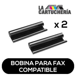 Panasonic Pack 2 bobinas para fax, reemplaza a KXFA52 Compatible