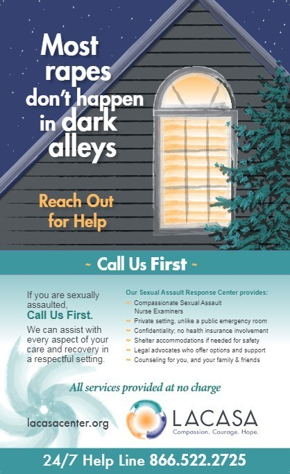 "COMMUNITY POSTER: The ""Call Us First"" campaign is designed to increase awareness about where victims can turn for immediate help."