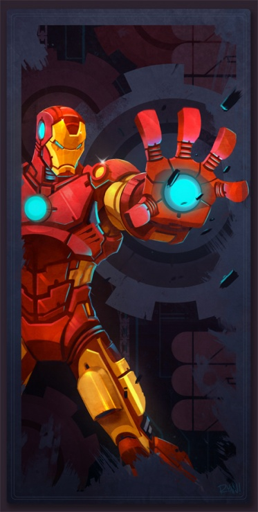 avengers card iron man by frogbillgo d48swio