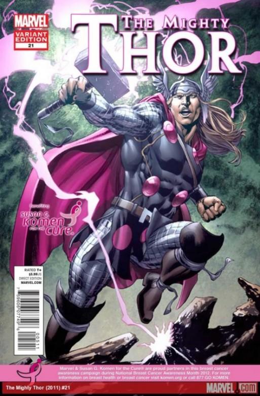 Portada alternativa del The Mighty Thor 21
