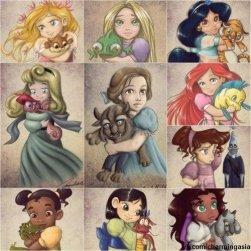 Princesas Disney y sus Peluches