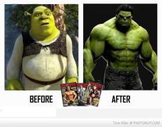 Shrek y Hulk